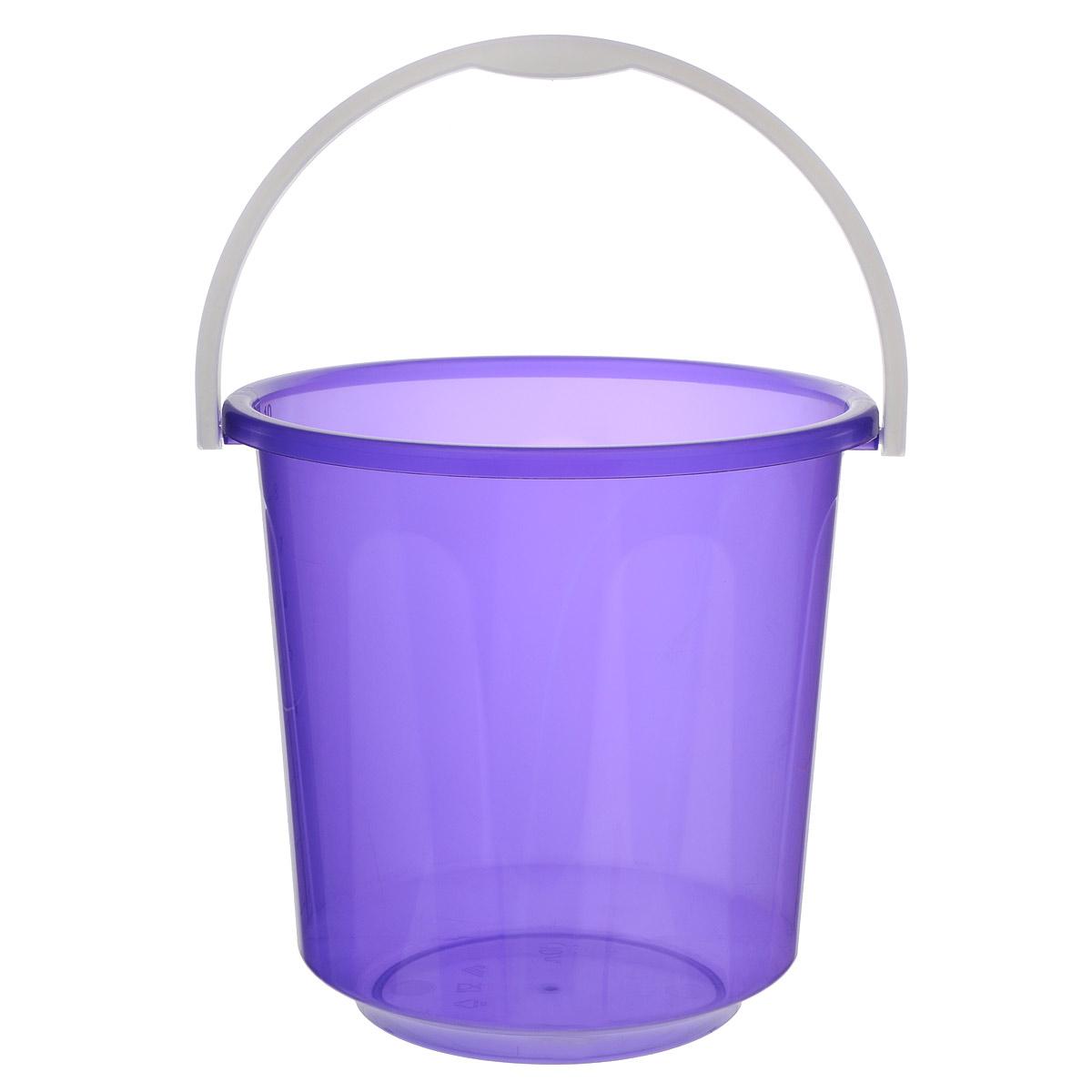 Ведро Альтернатива Хозяюшка, цвет: фиолетовый, 10 лМ1212Ведро Альтернатива Хозяюшка изготовлено из высококачественного пластика и оснащено отметками литража. Оно легче железного и не подвержено коррозии. Ведро имеет удобную пластиковую ручку. Такое ведро станет незаменимым помощником в хозяйстве. Идеально для хранения пищевых отходов. Диаметр: 27 см. Высота: 26 см.