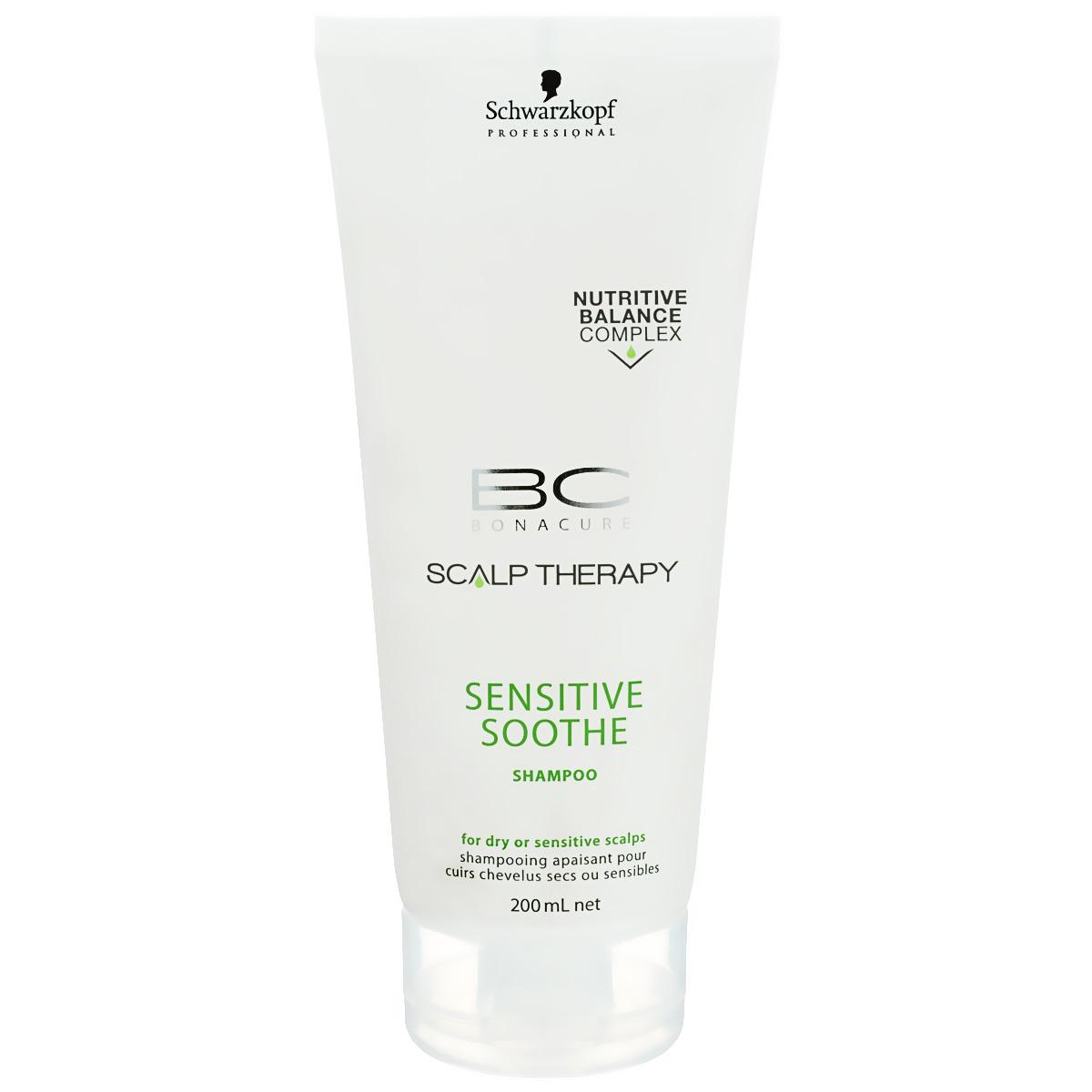 Bonacure Шампунь для чувствительной кожи головы Scalp Therapy Sensitive Shampoo 200 мл1753148Мягкий шампунь для всех типов волос и чувствительной кожи головы. Легкая формула с мягкими поверхностно - активными веществами деликатно очищает кожу головы, помогая избежать последующего раздражения. Содержит Таурин который способствует поддержанию естественных защитных функций кожи головы. Для достижения максимального результата рекомендуется использовать в комплексе с сывороткой BC Scalp Therapy Sensitive Scalp.
