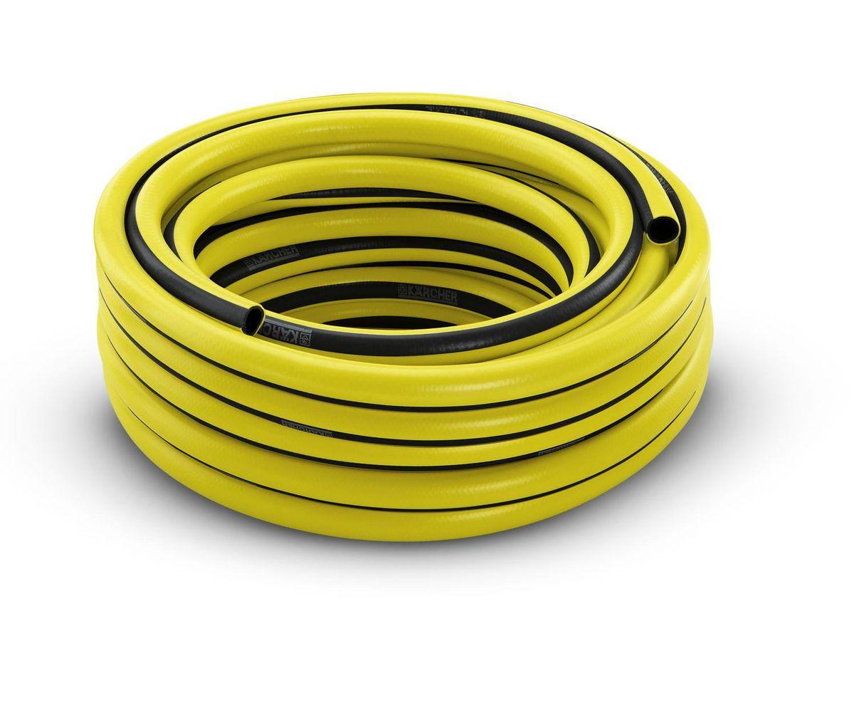 Шланг Karcher PrimoFlex, 3/4, 25 м. 2.645-142.02.645-142.0Шланг PrimoFlex Karcher 2.645-142 предназначен для подведения воды к месту полива. При обычном повседневном использовании в саду прослужит не менее 12 лет. Он армирован специальным материалом, выдерживающим давление до 24 бар, устойчив к УФ-излучению и температурам до +65°С. Прочен, безопасен за счет отсутствия в составе кадмия, бария и свинца, вредных веществ, фталатов и вторичного сырья. Шланг устойчив к перегибам. Имеет 3-х слойное изготовление. Промежуточный слой является светонепроницаемым и предотвращает рост водорослей в шланге. Удобен в обращении, стоек к воздействиям внешней среды. Шланг крепится к крану с помощью штуцера. Штуцер приобретается отдельно. Диаметр 3/4 дюйма. Максимальное давление: 24 бар. Рабочая температура: от -20°С до +65°С.