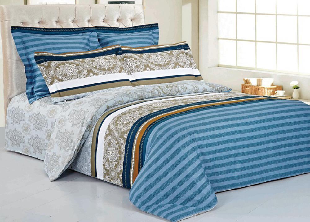 Комплект белья 9815 (2-спальный КПБ, сатин, наволочки 70x70)RC-100BWC09815 Комплект постельного белья 4 предмета. Хлопок 100%. Сатин. Пододеяльник 180х205 - 1 шт, простыня 210х230 - 1 шт, наволочка 70x70 - 2 шт.