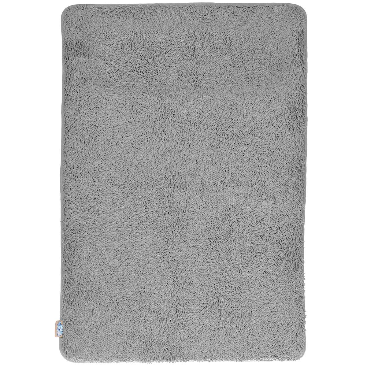 """Коврик для ванной White Fox """"Relax"""", цвет: серый, 60 х 90 см WBCH10-290"""