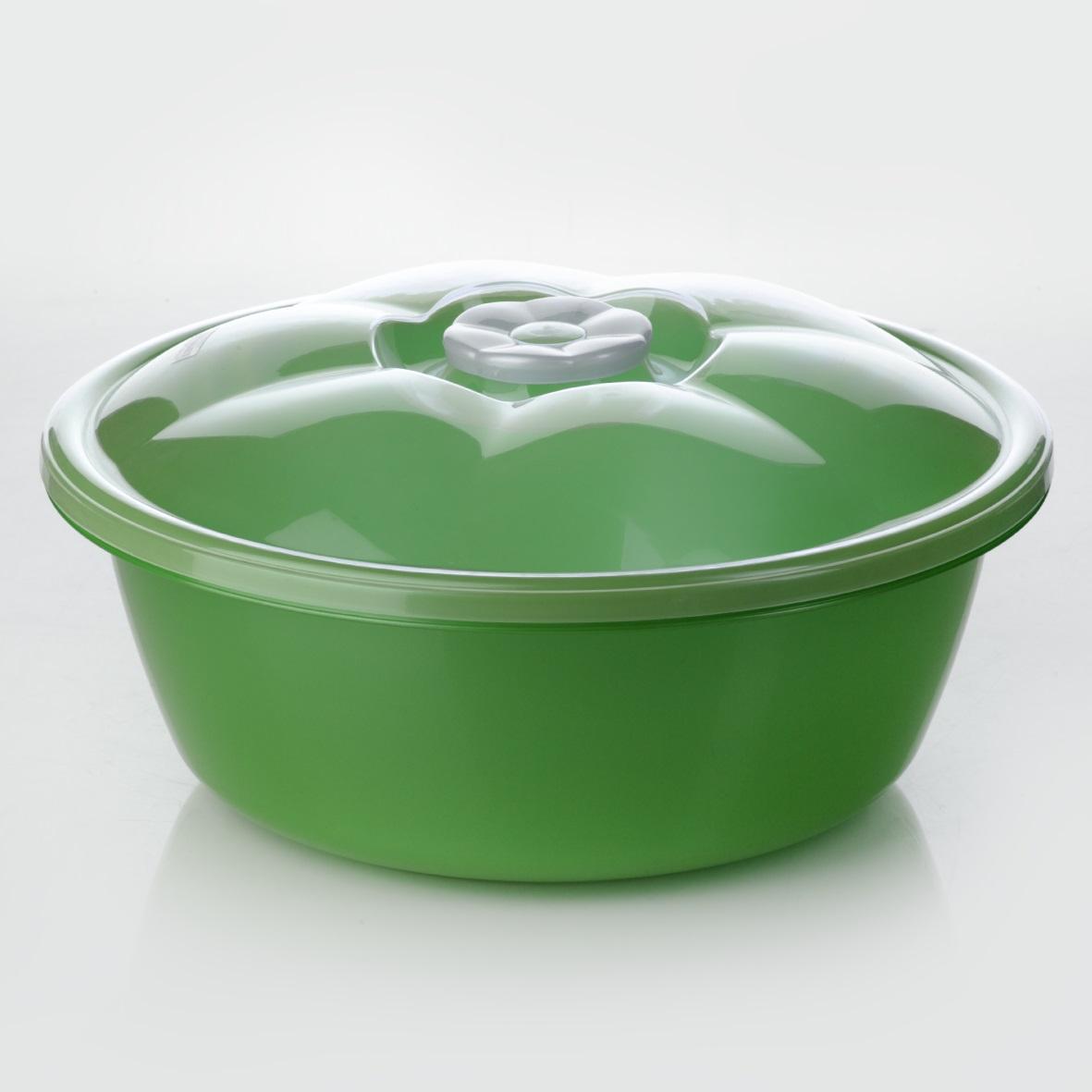 Миска Dunya Plastik, с крышкой, цвет: зеленый, прозрачный, 1,7 л-10422-Миска Dunya Plastik, изготовленная из пластика, имеет круглую форму. Изделие оснащено плотно закрывающейся крышкой. Такая миска прекрасно подойдет для хранения различных бытовых предметов, пищевых продуктов. Объем: 1,7 л
