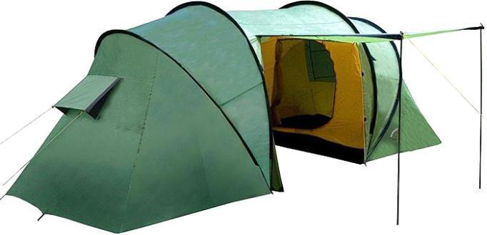 Палатка INDIANA TWIN 4360300006Четырехместная палатка Indiana TWIN 4 с большим тамбуром и антимоскитными сетками. Важным преимуществом качественной палатки является ее надежность и непритязательность в использовании.
