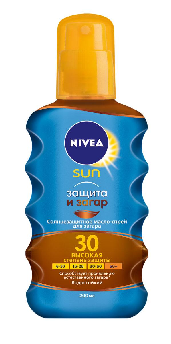 """NIVEA Солнцезащитное масло-спрей для загара """"Защита и загар"""" СЗФ 30 200 мл 100715763"""