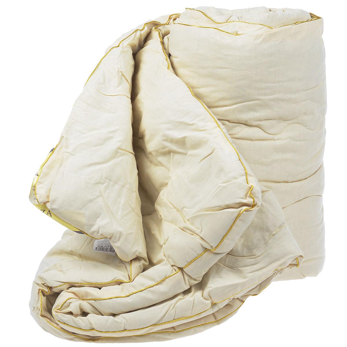 Одеяло Mona Liza, наполнитель: полиэстер, лен, цвет: слоновая кость, 195 см х 215 смАШ529342Одеяло Mona Liza подарит вам незабываемое чувство комфорта и умиротворения. Чехол выполнен на 80% из хлопка и на 20% из полиэстера цвета слоновой кости, украшен фигурной стежкой с золотой каймой. Внутри - наполнитель выполненный на 70% из полиэстера и на 30% из льна. Сверхтонкий наполнитель делает одеяло легким и воздушным, с отличной терморегуляцией, препятствует возникновению бактерий и образованию пылевого клеща. Кроме того, одеяло постоянно поддерживает нужную температуру: оно греет зимой и дает прохладу летом. Одеяло упаковано в прозрачную сумку-чехол на застежке-молнии. Торговая марка Mona Liza принадлежит крупнейшему в Европе и странах СНГ текстильному объединению Монолит, которое уже более 22 лет, с 1992 года, радует своих покупателей высоким качеством выпускаемой продукции. Материал чехла: хлопок, полиэстер. Наполнитель: полиэстер, лен. Плотность: 200 г/м2. Размер одеяла: 195 см х 215 см.