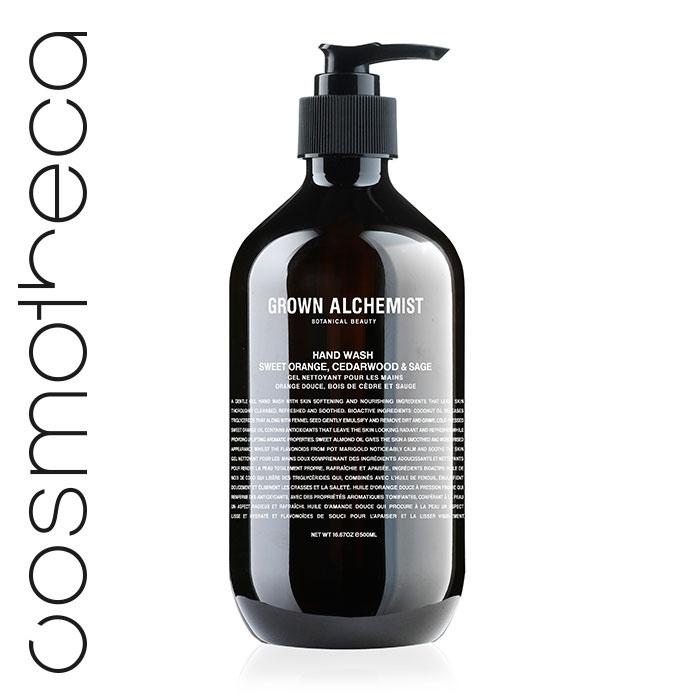Grown Alchemist Жидкое мыло для рук Апельсин, кедр и шалфей, 500 млGRA0001Великолепно пенится, мягко и эффективно очищая кожу. Стимулирует циркуляцию. Повышает выработку липидов кожей. Успокаивает и смягчает кожу.