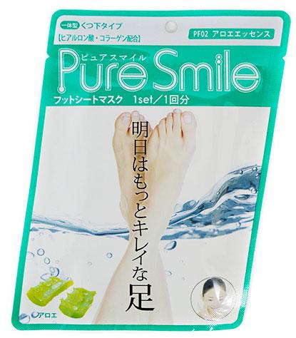 Pure Smile Питательная маска для ступней с эссенцией алоэ 18гБ 63001Питательная маска для ступней с эссенцией алоэ PURE SMILE - это необходимый уход за достаточно проблемным участком кожи.Компоненты маски окажут интенсивное питание и увлажнение, осветлят и разгладят кожу ступней. Коллаген и гиалуроновая кислота, окажут мощное увлажняющее действие, вернут кожу плотность и упругость. Эссенция алоэ стимулирует клеточный обмен, нормализует секрецию жировых желез, тонизирует кожу, улучшает ее эластичность и способствует омоложению, препятствует огрубению кожи. Кипарисовая вода, препятствует появлению неприятных запахов, обладает дезодорирующим эффектом.