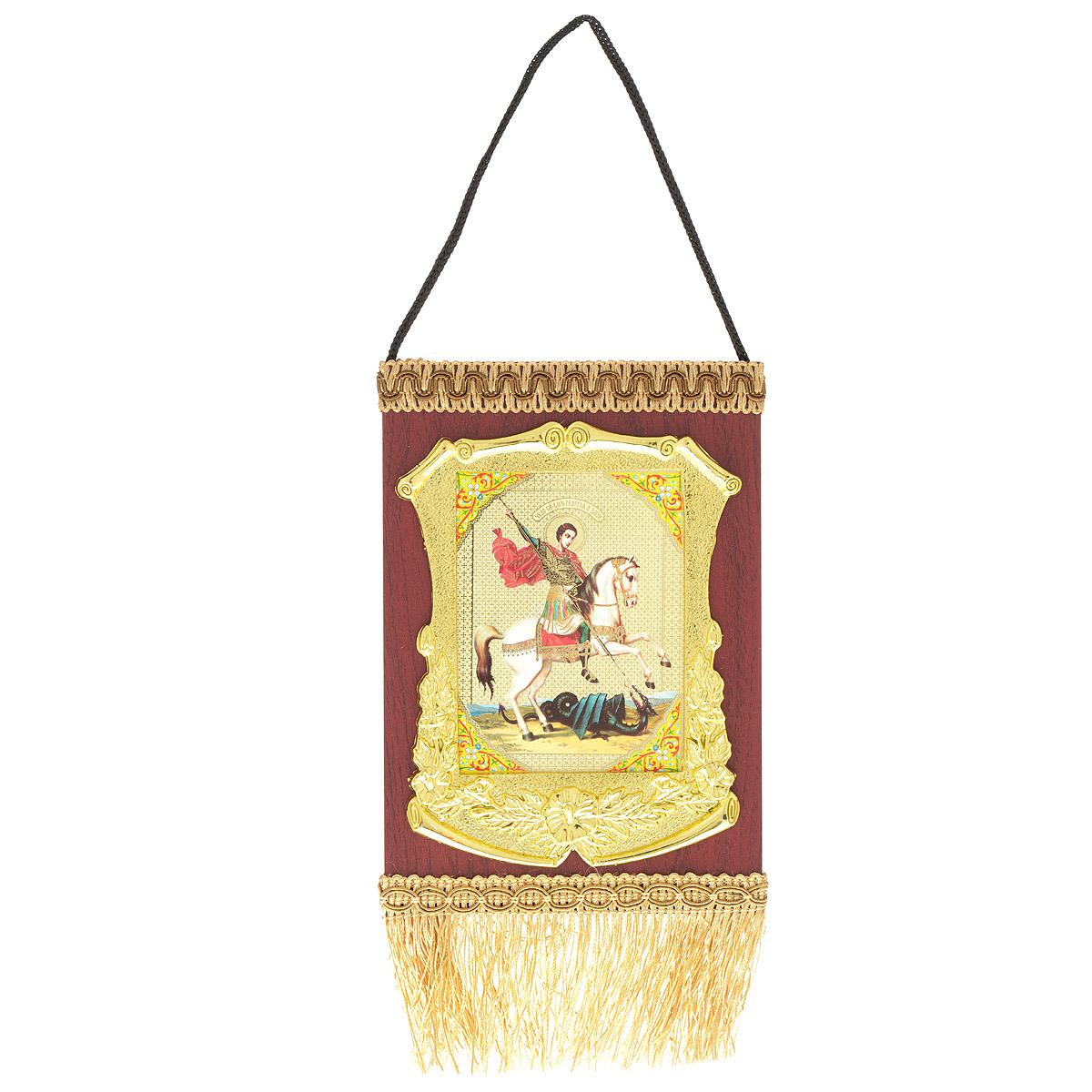 Икона в рамке Sima-land, 13 х 19 см121843Икона Sima-land, выполненная из дерева, оформлена святым изображением в изящной пластиковой рамке под золото и тесьмой с бахромой. Изделие оснащено подвесом, благодаря которому икону удобно вешать на стену. Икона полностью соответствует канонам Русской Православной Церкви. Такая икона будет прекрасным подарком с духовной составляющей.