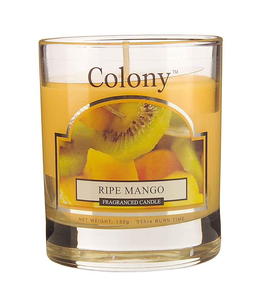 Wax Lyrical Спелый манго ароматизированная свеча в стекле малая, 35 часовUP210DFСочный фруктовый аромат спелых фруктов: экзотического манго, персиков, арбуза