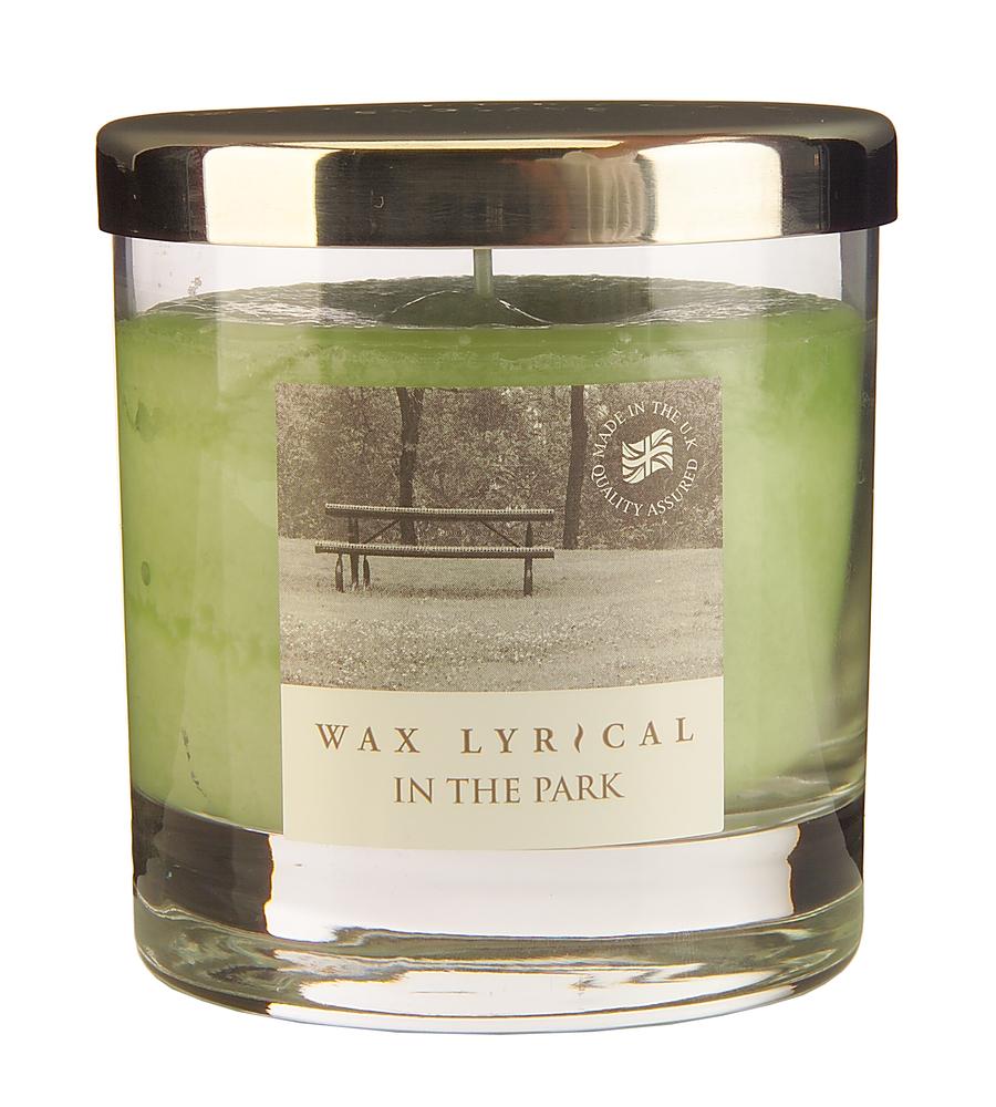 Wax Lyrical Прогулка в парке ароматическая свеча в стекле средняя, 50 часовFS-91909Нежный и спокойный аромат полевых цветов и молодой зелени. Уважаемые клиенты! Обращаем ваше внимание на возможные изменения в дизайне упаковки. Поставка осуществляется в зависимости от наличия на складе.