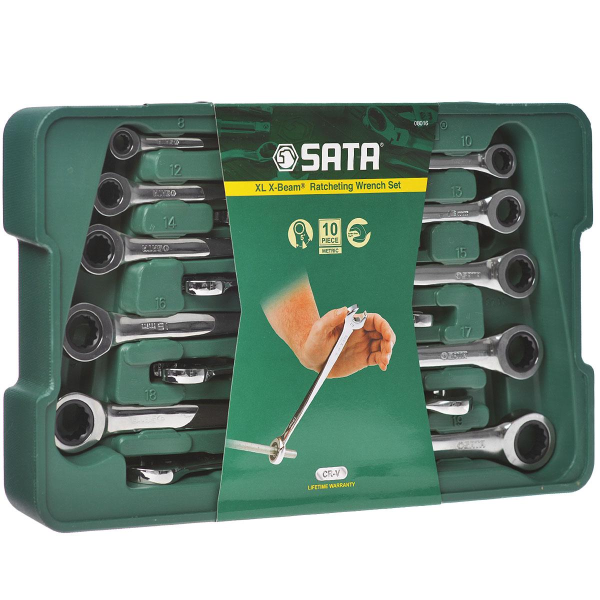Набор ключей SATA 10пр. 08016  набор ключей sata 11пр 08023