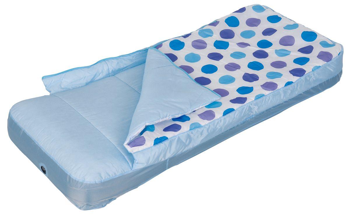 Кровать надувная Relax Air Bed Single With Sleeping Bag, со спальником, 157 см х 66 см х 23 смJL027233NPFСдержанный дизайн и нейтральные цвета подходят к любому интерьеру и делают надувную кровать Relax Air Bed Single With Sleeping Bag отличным выбором для домашнего использования. Кровать проста в использовании, очень комфортная, не занимает много места при хранении. Особенности: - Надувная кровать и спальный мешок могут быть использованы совместно или по отдельности. - Отличный выбор для детей во время путешествия. - Спальник надевается на надувной матрац как натяжная простыня. - Материал внешней стороны спальника: Полиэстер Taffeta 190D водостойкий. - Материал внутренней стороны спальника: Полиэстер Taffeta 190D. - Наполнитель: холлофайбер. - Материал простыни: поликоттон. - Время надувания 2 минуты.