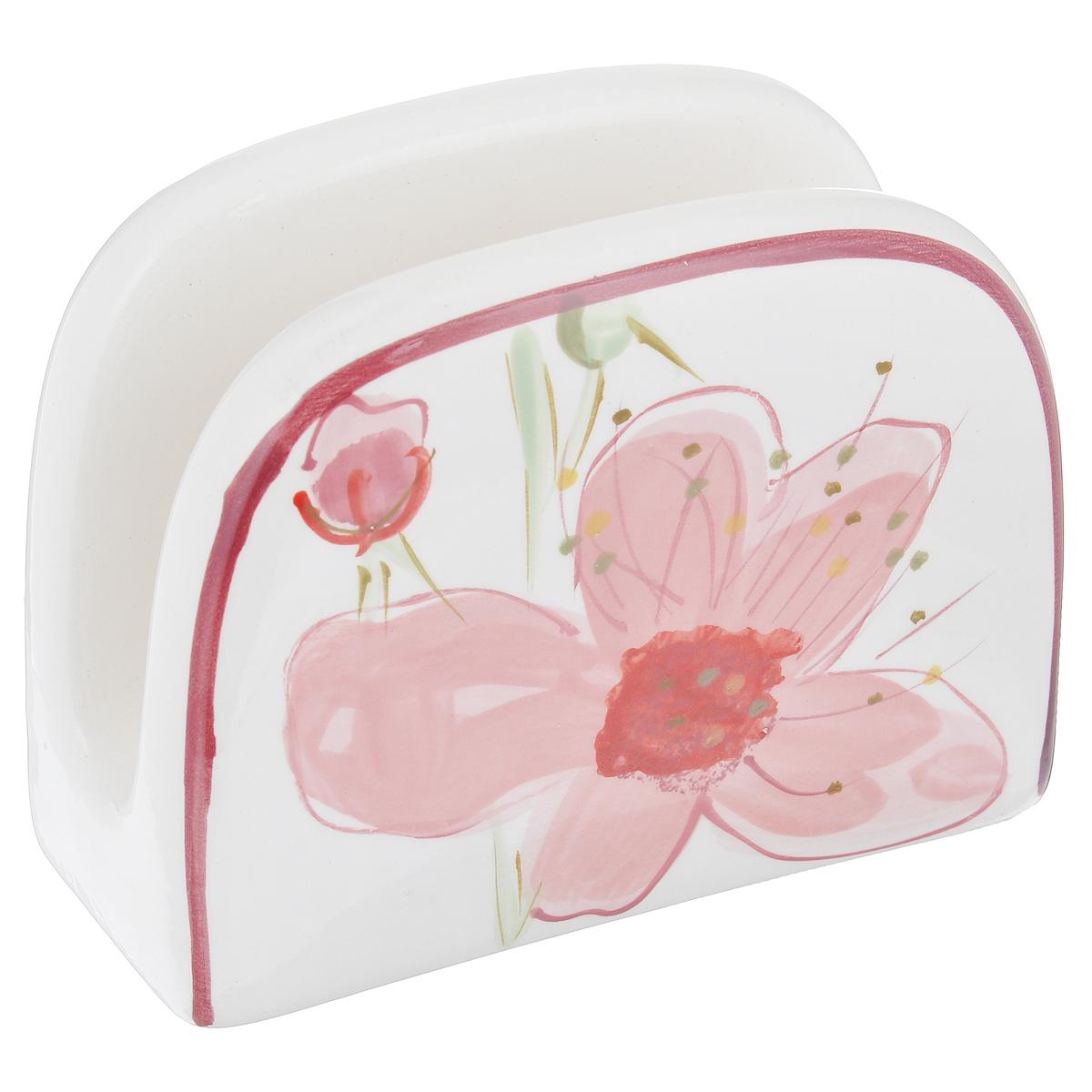Подставка для салфеток ВишняВ62827АПодставка для салфеток Вишня станет оригинальным украшением стола. Изделие выполнено из высококачественной керамики, покрытой слоем сверкающей глазури. Подставка декорирована изображением цветков вишни. Такая подставка красиво оформит стол и создаст особое настроение. Размер подставки: 13,5 см х 10 см х 6 см. Можно мыть в посудомоечной машине.
