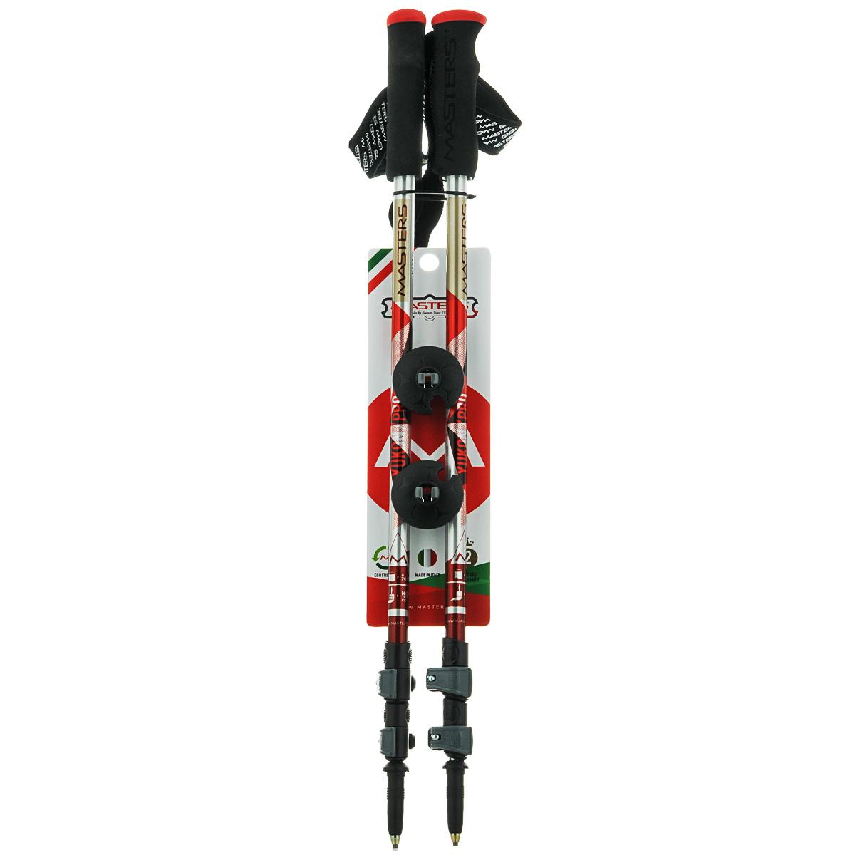 Палки для трекинга Masters Yukon Pro, телескопические, 65-135 см01S0214Masters Yukon Pro - телескопические трекинговые палки, отличающиеся быстрой и удобной системой секционной блокировки Clamper Blocking System, основанной на принципе клипсы. Разработаны для длительных походов и восхождений требующих минимального веса снаряжения. Имеют профессиональную рукоятку Pro Foam из пеноматериалов с влагоотводящим эффектом, что позволяет произвести комфортный хват. Эргономичный регулируемый темляк. При весе всего в 230 г используется легкий, упругий и самый прочный алюминиевый сплав 7075. Палки телескопические состоят из 3 секций для удобства транспортировки на рюкзаке или ином снаряжении. В нижних двух секциях расположена метрическая разметка для быстрой и точной регулировки длины палки под рост. Наконечник карбидовый, для высокого сцепления вплоть до гладких каменных пород. Сменные кольца быстро и надежно крепятся с использованием технологии Screw System. Поверхность секций отличается высокой степенью полировки и многослойной покраской. Используются...