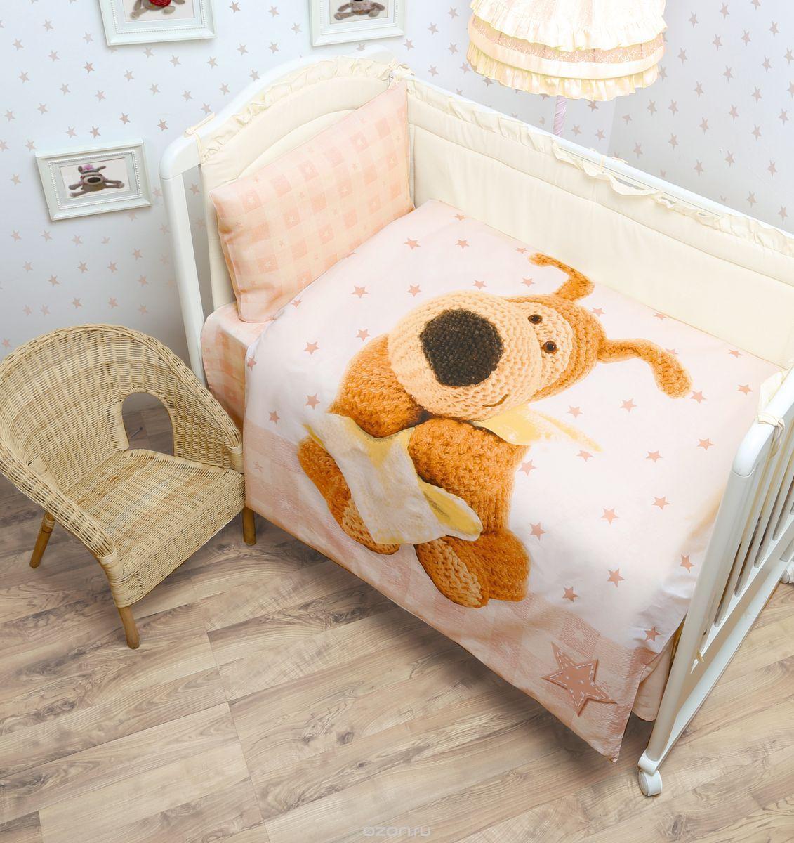 Постельное белье Boofle Baby (детский КПБ, бязь, наволочки 40х60)521810простыня 100*145, подод.110*145, нав-ка 40*60 Бязь 100% хлопок