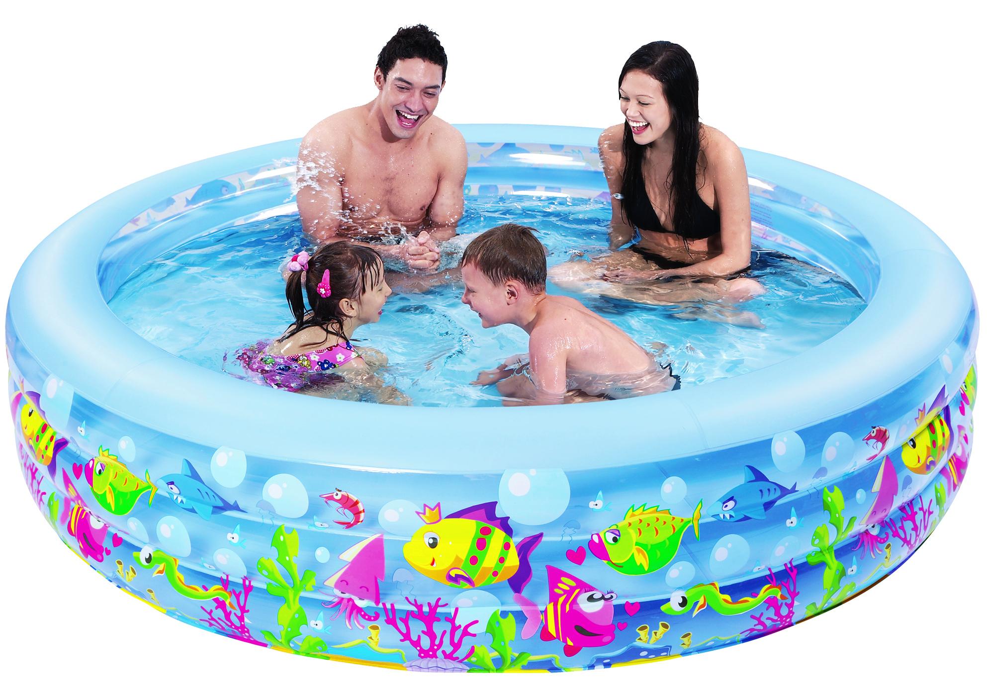 Бассейн надувной Jilong Aquarium, 185 см x 50 смJL017027NPFКруглый надувной бассейн Jilong Aquarium предназначен для детского и семейного отдыха на загородном участке. Отлично подойдет для детей от 6 лет. Бассейн изготовлен из прочного ПВХ. Оснащен удобной сливной пробкой. Комфортный дизайн бассейна и приятная цветовая гамма сделают его не только незаменимым атрибутом летнего отдыха, но и оригинальным дополнением ландшафтного дизайна участка. В комплект с бассейном входит заплатка для ремонта в случае прокола.