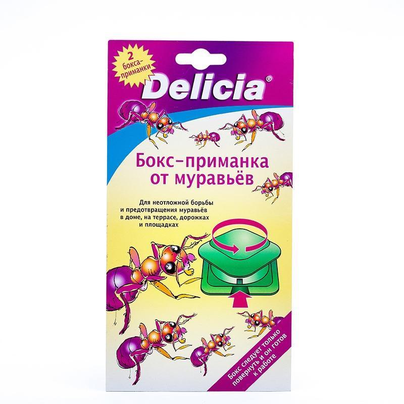 Бокс-приманка для борьбы с муравьями Delicia, 2 шт0716-184Бокс-приманка Delicia для борьбы с любыми видами муравьев с эффективным аттрактаном и повышенным содержанием действующих веществ. Используется для серьезной неотложной борьбы против муравьев и предотвращения их появления в доме, саду и на террасе. Правильное применение гарантирует успех! Характеристики: Размер одной приманки: 6 см х 6 см. Комплектация: 2 шт. Изготовитель: Германия. Артикул: 37986.