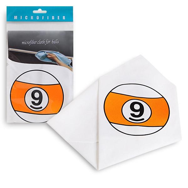 Салфетка для чистки и полировки Fortuna Шар №9, микрофибра332515-2800Салфетка белого цвета Fortuna из микрофибры с изображением шара №9 для чистки и полировки. Каждая салфетка имеет индивидуальную упаковку - пластиковый пакет. Размер салфетки - 34 x 34 см.