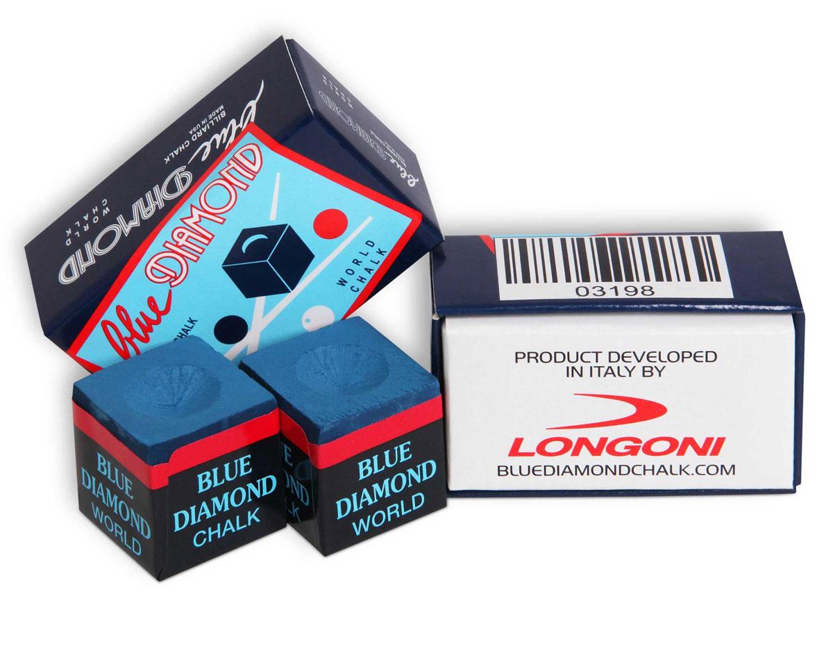 Мел для бильярда Longoni Blue Diamond Blue, 2 шт03198Мел Longoni Blue Diamond Blue невероятно долго держится на наклейке после нанесения на нее - удар за ударом. Выпускается ограниченными партиями, что позволяет максимально контролировать высокое качество изготовления. Формула мела, разработанная специалистами Longoni много лет назад, держится в строгом секрете.