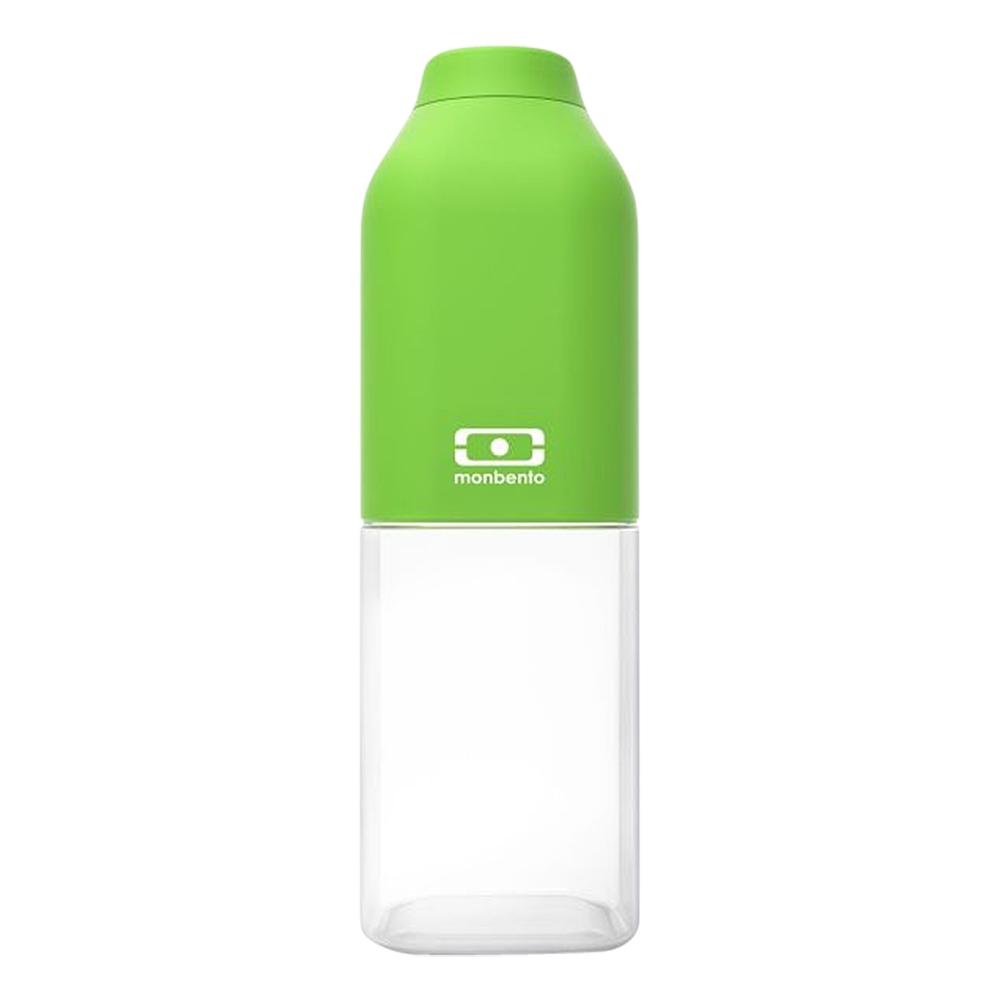 Бутылка для воды Monbento Positive, цвет: зеленый, 500 мл1011 01 005Бутылка для воды Monbento Positive изготовлена из безопасного пищевого пластика (BPA free). Одна половина бутылки - прозрачная, вторая оснащена цветным покрытием Soft touch, благодаря чему ее приятно держать в руке. Изделие оснащено герметичной закручивающейся крышкой. Такая идеальная бутылка небольшого размера, но отличной вместимости наполняет оптимизмом, даря заряд позитива и хорошего настроения. Многоразовая бутылка пригодится в спортзале, на прогулке, дома, на даче - в общем, везде! Забудьте про одноразовые пластиковые емкости - они некрасивые, да и засоряют окружающую среду. А такая красота в руках точно привлечет взгляды окружающих. Нельзя мыть в посудомоечной машине. Высота бутылки (с учетом крышки): 19 см. Размер дна: 6 см х 6 см.