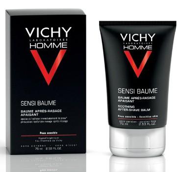 Vichy Бальзам смягчающий после бритья Vichy Homme для чувствительной кожи Sensi Baume Ca, 75 мл6800Чувствительная кожа сразу же становятся мягкой и обретает ощущение комфорта. Покраснение и чувство жжения уменьшаются с каждым днём применения. Увлажнение кожи 24 ч