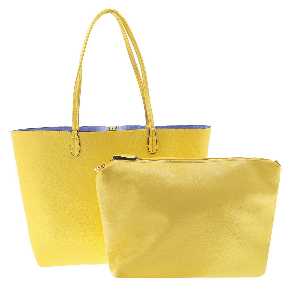Сумка женская Dino Ricci, цвет: желтый. 2011-58-42011-58-4Яркая женская сумка от Dino Ricci из искусственной мягкой кожи с золотистой фурнитурой. Основное отделение сумки не имеет застежки. У модели имеется вынимаемое отделение из искусственной кожи с текстильной отделкой под молнией. Внутри отделение разделено карманом-средником на застежке-молнии, также оно снабжено двумя накладными кармашками для мелочей и телефона и врезным карманом на молнии. Вынимаемое отделение дополнено врезным карманом на молнии с наружной стороны. Сумка оснащена двумя удобными ручками и регулируемым плечевым ремнём. Изделие упаковано чехол. Стильный дизайн сумки, позволит вам подчеркнуть свою индивидуальность и сделает ваш образ завершенным.