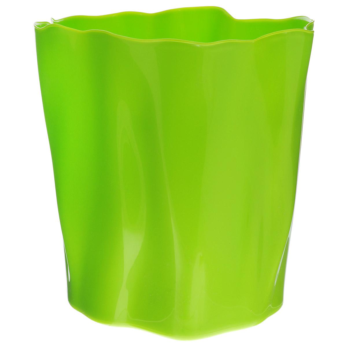 Органайзер Qualy Flow, большой, цвет: зеленый, диаметр 27 смQL10141-GNОрганайзер Qualy Flow может пригодиться на кухне, в ванной, в гостиной, на даче, на природе, в городе, в деревне. В него можно складывать фрукты, овощи, хлеб, кухонные приборы и аксессуары, всевозможные баночки, можно использовать органайзер как мусорную корзину, вазу. Все зависит от вашей фантазии и от хозяйственных потребностей! Пластиковый оригинальный органайзер пригодится везде! Диаметр: 27 см. Высота стенки: 28 см.