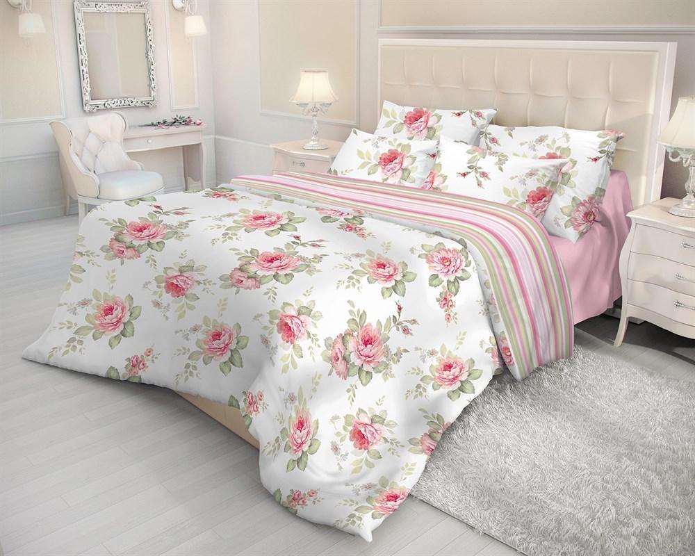 Комплект белья Волшебная ночь Ева, 2-спальный, наволочки 70х70, цвет: белый, розовый, зеленый183723Комплект постельного белья Волшебная ночь Ева состоит из пододеяльника, простони и двух наволочек, выполненных из ткани ранфорс - 100% хлопковой ткани. Постельное белье оформлено ярким изображением цветов и имеет изысканный внешний вид. Ткань ранфорс - это бязь нового поколения. Пряжу дополнительно вычесывают, полируют, делая ее более ровной и гладкой. В результате ткань получается мягкой и шелковистой. Износостойкость ткани ранфорс выше, чем у обычной бязи. Не надо гладить - белье самостоятельно восстанавливает форму после стирки, достаточно высушить аккуратно развешенное белье и, свернув его, убрать в шкаф. Не мнется - внешний вид белья остается безупречным и между стирками, оно не сминается в процессе эксплуатации - такое ощущение, будто постель только что заправили. Не пачкается - постельное белье с обработкой Легкий уход меньше пачкается и дольше сохраняет свежесть. Комплект постельного белья Волшебная ночь Ева стильно...