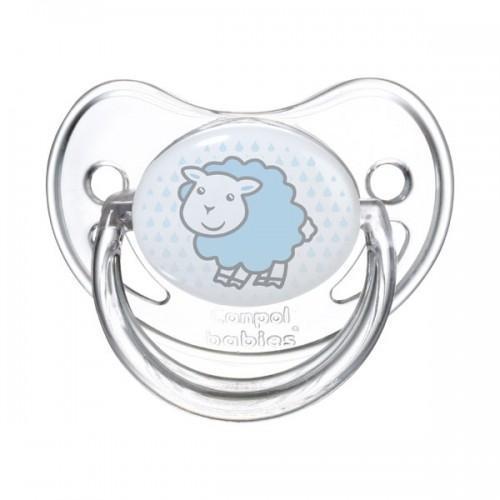 Canpol Babies Пустышка силиконовая ортодонтическая от 6 до 18 месяцев цвет голубой
