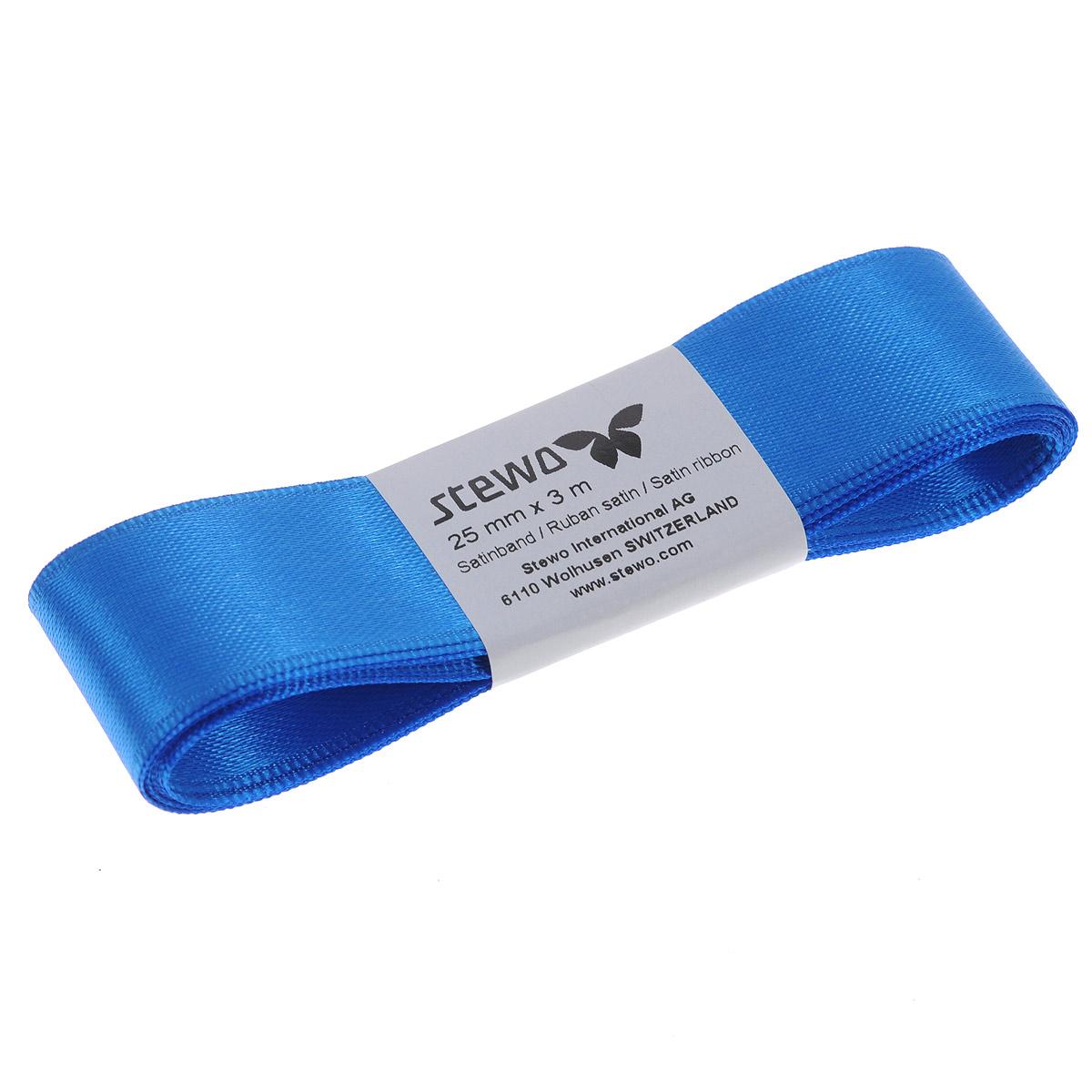 Лента атласная Brunnen, цвет: синий, ширина 2,5 см, длина 3 м834127-42\STWЛента Brunnen изготовлена из атласа. Область применения атласной ленты весьма широка. Лента предназначена для оформления цветочных букетов, подарочных коробок, пакетов. Кроме того, она с успехом применяется для художественного оформления витрин, праздничного оформления помещений, изготовления искусственных цветов. Ее также можно использовать для творчества в различных техниках, таких как скрапбукинг, оформление аппликаций, для украшения фотоальбомов, подарков, конвертов, фоторамок, открыток и т.д. Ширина ленты: 2,5 см. Длина ленты: 3 м.