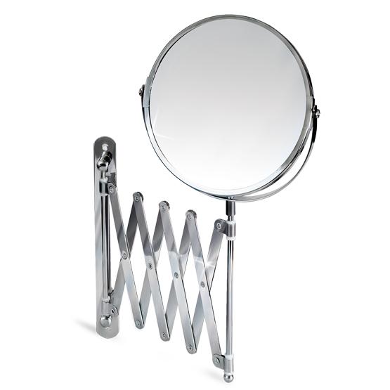 Зеркало двустороннее выдвижное Tatkraft Aurora, диаметр 17 см11106Зеркало двустороннее выдвижное Tatkraft Aurora изготовлено из хромированной стали. Выдвигается на 56 см, дизайн крепления гормошка. Геометрические искажения отсутствуют. Одна сторона имеет трехкратное увеличение. Характеристики: Материал: стекло, нержавеющая сталь. Диаметр зеркала: 17 см. Максимальная длина выдвижения: 56 см. Минимальная длина выдвижения: 9 см. Размер упаковки: 20 см х 19 см х 4 см. Артикул: 11106.