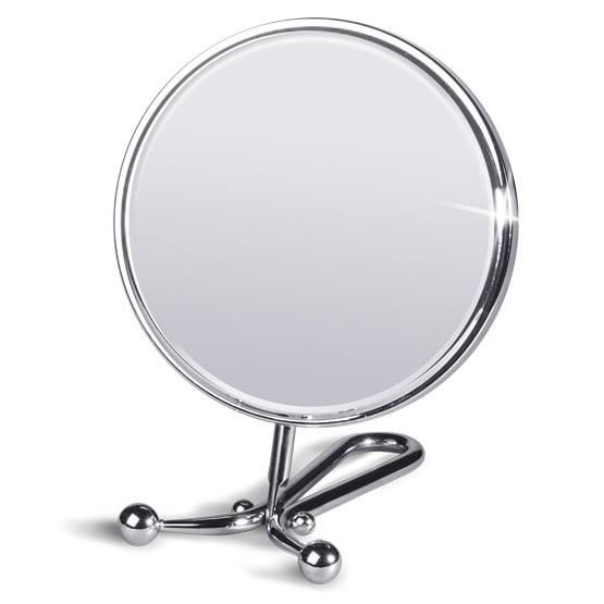 Зеркало двустороннее складное настольное Tatkraft Felicia, диаметр 15 см11304Зеркало Tatkraft Felicia имеет 2 стороны, одна из которых с двухкратным увеличением. Можно использовать как ручное или настольное. Наклон зеркала регулируется. Характеристики: Материал: пластик, стекло. Диаметр зеркала: 15 см. Длина подставки: 15 см. Размер упаковки: 17 см х 30 см х 3,5 см. Артикул: 11304.