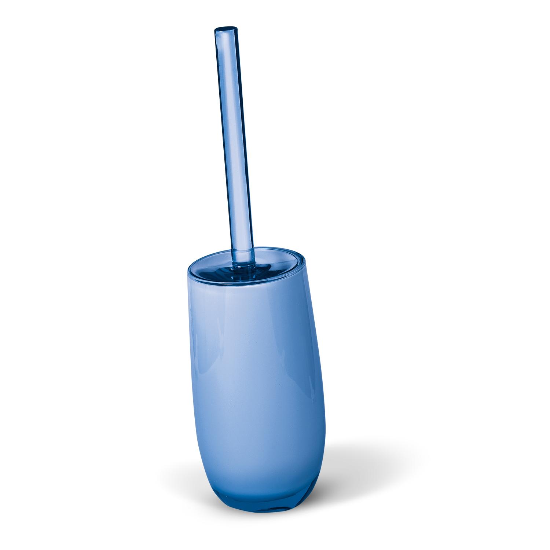 Гарнитур для туалета Immanuel Repose Blue, цвет: голубой. 1228812288Гарнитур для туалета Immanuel Repose Blue включает в себя ершик и подставку. Ершик с жестким ворсом имеет удобную ручку, которая выполнена из прозрачного акрила. Подставка изготовлена из акрила голубого цвета с пластиковой емкостью внутри. Ершик полностью вставляется в подставку и закрывается крышкой, что обеспечит гигиеничность использования и облегчит уход. Ершик отлично чистит поверхность, а грязь с него легко смывается водой. Характеристики: Материал: акрил. Цвет: голубой. Длина ершика: 33 см. Длина ворса: 1,5 см. Диаметр подставки для ершика по верхнему краю: 8,5 см. Высота подставки: 18,5 см. Артикул: 12288.