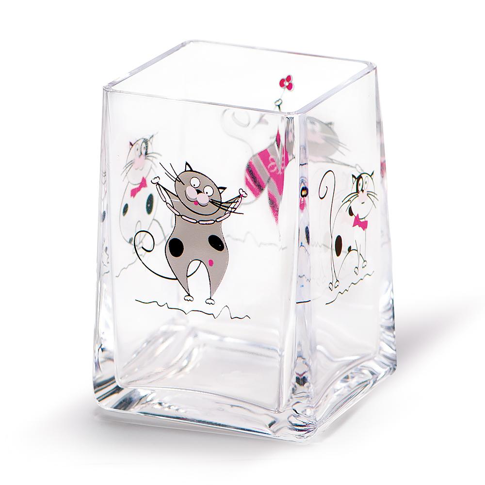 Стакан для ванной комнаты Tatkraft Funny Cats12950
