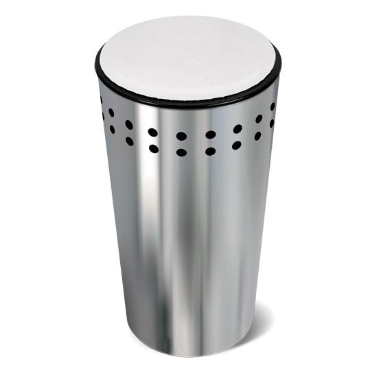 Корзина для белья Tatkraft Dolly, с крышкой-сидением, 32 л80653Оригинальная корзина для белья Tatkraft Dolly из нержавеющей стали - это функциональная и полезная вещь, которая не только сохранит ваше белье, но и стильно украсит интерьер ванной комнаты. Крышка закрывается плотно, выполнена в виде мягкого сиденья - благодаря этому корзину можно использовать не только по прямому назначению, но и в качестве дополнительного стула. Внутренний объем 32 литра, что достаточно для хранения вещей семьи из 3-4 человек. Модель прекрасно впишется в любой интерьер ванной комнаты. Хромированная сталь - долговечный материал, устойчивый к повышенной влажности и коррозии.