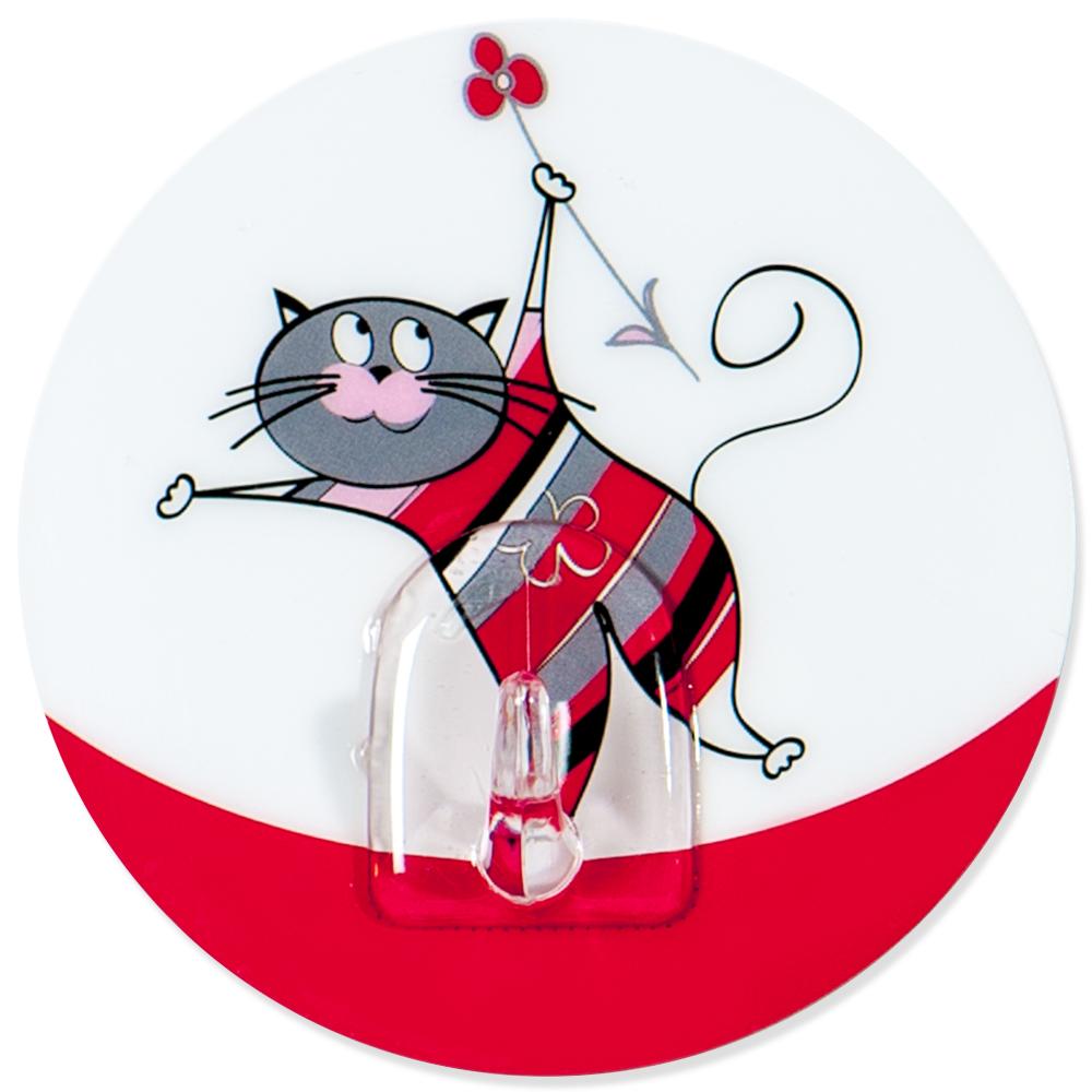 Крючок адгезивный Tatkraft Funny cats21099Крючок адгезивный Tatkraft Funny cats изготовлен из пластика. Крючок может быть установлен только на ровной воздухонепроницаемой поверхности: плитка, стекло, пластик, металл, ламинированное дерево и другие. Крючок является многоразовым, что позволяет перевесить его в любое удобное место. Крючок Tatkraft Funny cats имеет авторский дизайн, который украсит любой интерьер. Диаметр: 8 см. Длина крючка: 1,5 см. Максимальный вес: 3 кг.