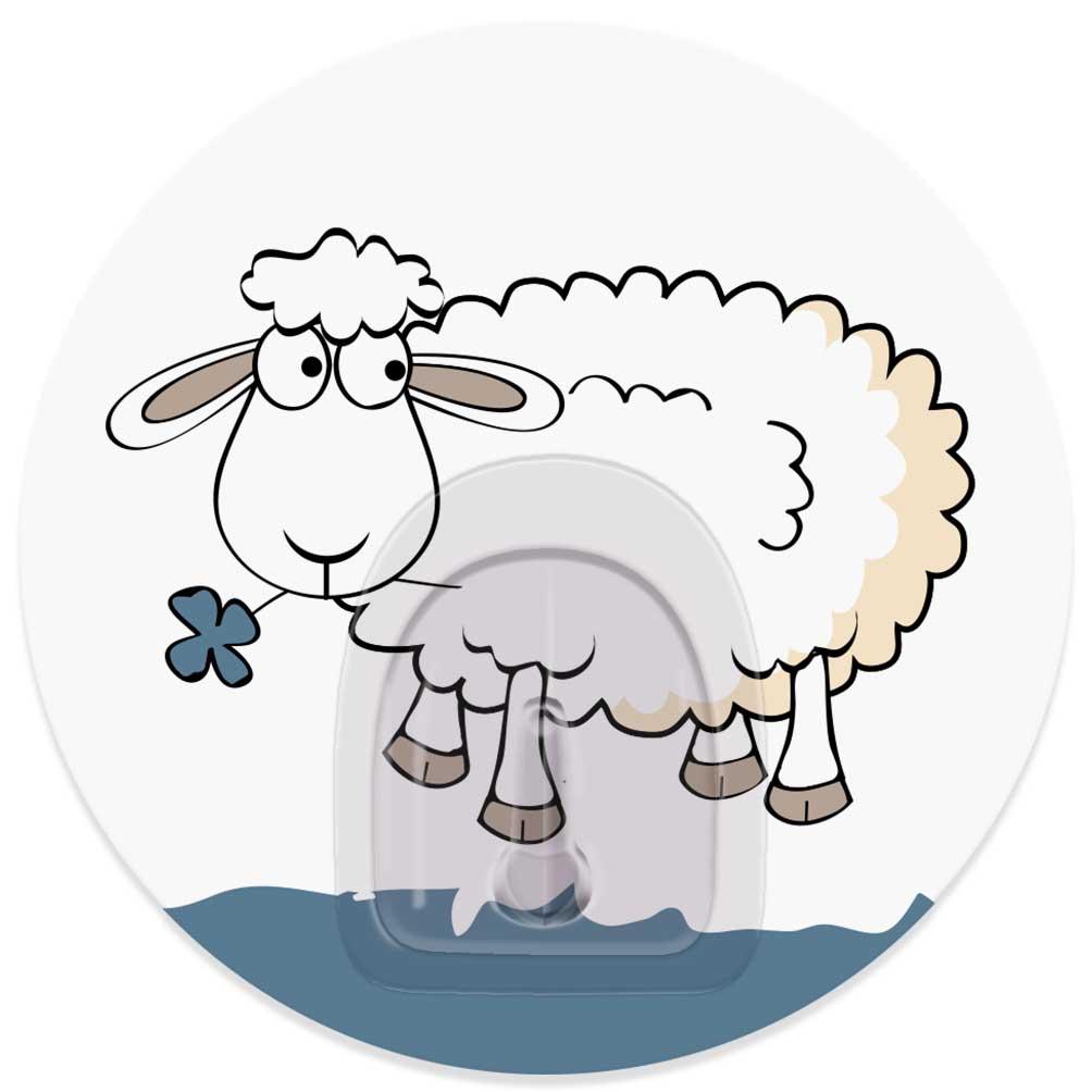Крючок адгезивный Tatkraft Funny Sheep. Bella, диаметр 8 см21112Адгезивный крючок Tatkraft Funny Sheep. Bella изготовлен из пластика. Крючок может быть установлен только на ровной воздухонепроницаемой поверхности: плитка, стекло, пластик, металл, ламинированное дерево и другие. Крючок является многоразовым, что позволяет перевесить его в любое удобное место. Крючок Tatkraft Funny Sheep. Bella имеет авторский дизайн, который украсит любой интерьер. Диаметр крючка: 8. Максимальная нагрузка: 3 кг.