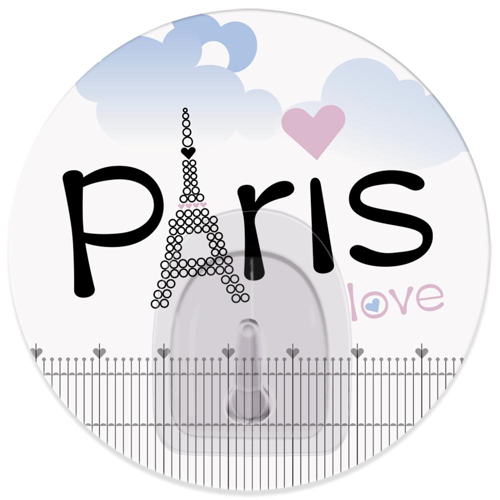 Крючок адгезивный Tatkraft Paris. Love, диаметр 8 см18723Адгезивный крючок Tatkraft Paris. Love изготовлен из пластика. Крючок может быть установлен только на ровной воздухонепроницаемой поверхности: плитка, стекло, пластик, металл, ламинированное дерево и другие. Крючок является многоразовым, что позволяет перевесить его в любое удобное место. Крючок Tatkraft Tatkraft Paris. Love имеет авторский дизайн, который украсит любой интерьер. Диаметр крючка: 8. Максимальная нагрузка: 3 кг.