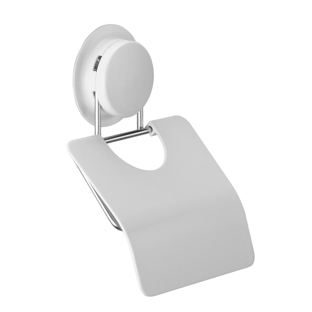 Держатель туалетной бумаги GarBath, с крышкой, на вакуумной системе крепления, цвет: белый260028Держатель для туалетной бумаги GarBath изготовлен из пластика и нержавеющей стали. Благодаря особой конструкции, рулон бумаги не будет соприкасаться со стеной. Уникальная система крепления позволяет закрепить держатель на стене, не используя шурупы. Есть несколько вариантов крепления: - вакуумная присоска - выдерживает вес до 5 кг; - клей - прочно крепится к неровной, воздухопроницаемой поверхности; - при желании, еще один вид крепления - шуруп. Клей и шуруп входят в комплект. Оригинальный держатель с крышкой GarBath станет полезным и практичным аксессуаром любого туалета. Диаметр вакуумного крепления: 7 см. Размер держателя: 13,5 см х 12,5 см х 2 см.