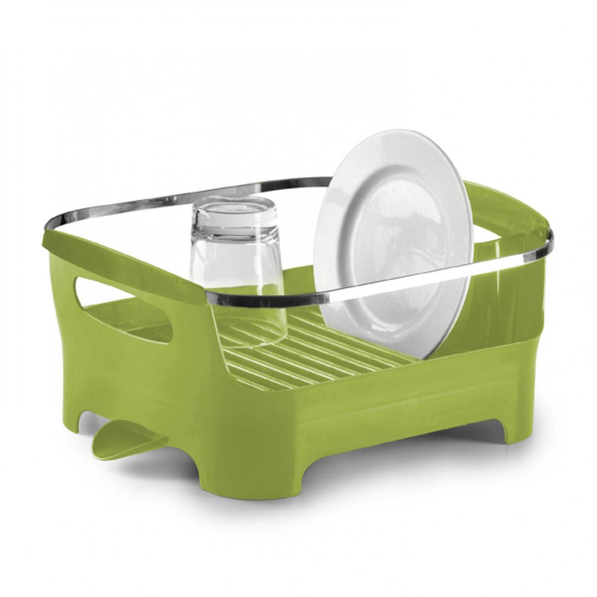 Сушилка для посуды Umbra Basin, цвет: зеленый, 38 см х 33 см х 17 см330591-806Сушилка для посуды Umbra Basin изготовлена из высококачественного пластика без содержания вредного бисфенола. Компактный дизайн изделия создает большое пространство для хранения и сушки посуды. Пространство для посуды ограждено бортиком, в котором есть удобные ручки для переноски, а главное, тарелки случайно не выпадут и не разобьются. Вода со свежевымытой посуды через желобки для тарелок стекает вниз, в специальное отделение, где собирается и выводится через носик на боку сушилки. Вы можете поставить ее в раковину или на рабочую поверхность рядом. Размер сушилки: 38 см х 33 см х 17 см.