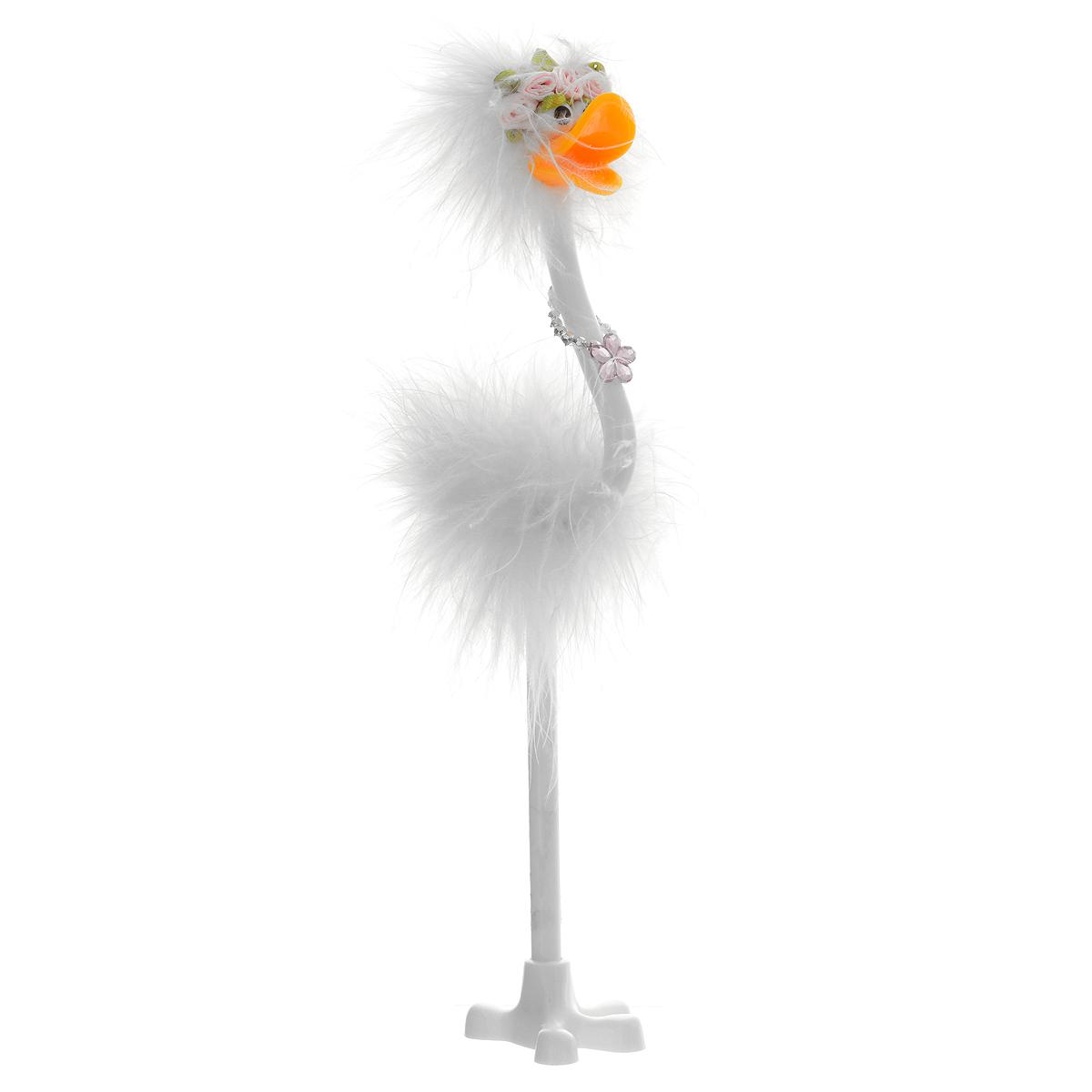 Ручка-игрушка Flamingo, с подставкой, цвет: белый82965/белый
