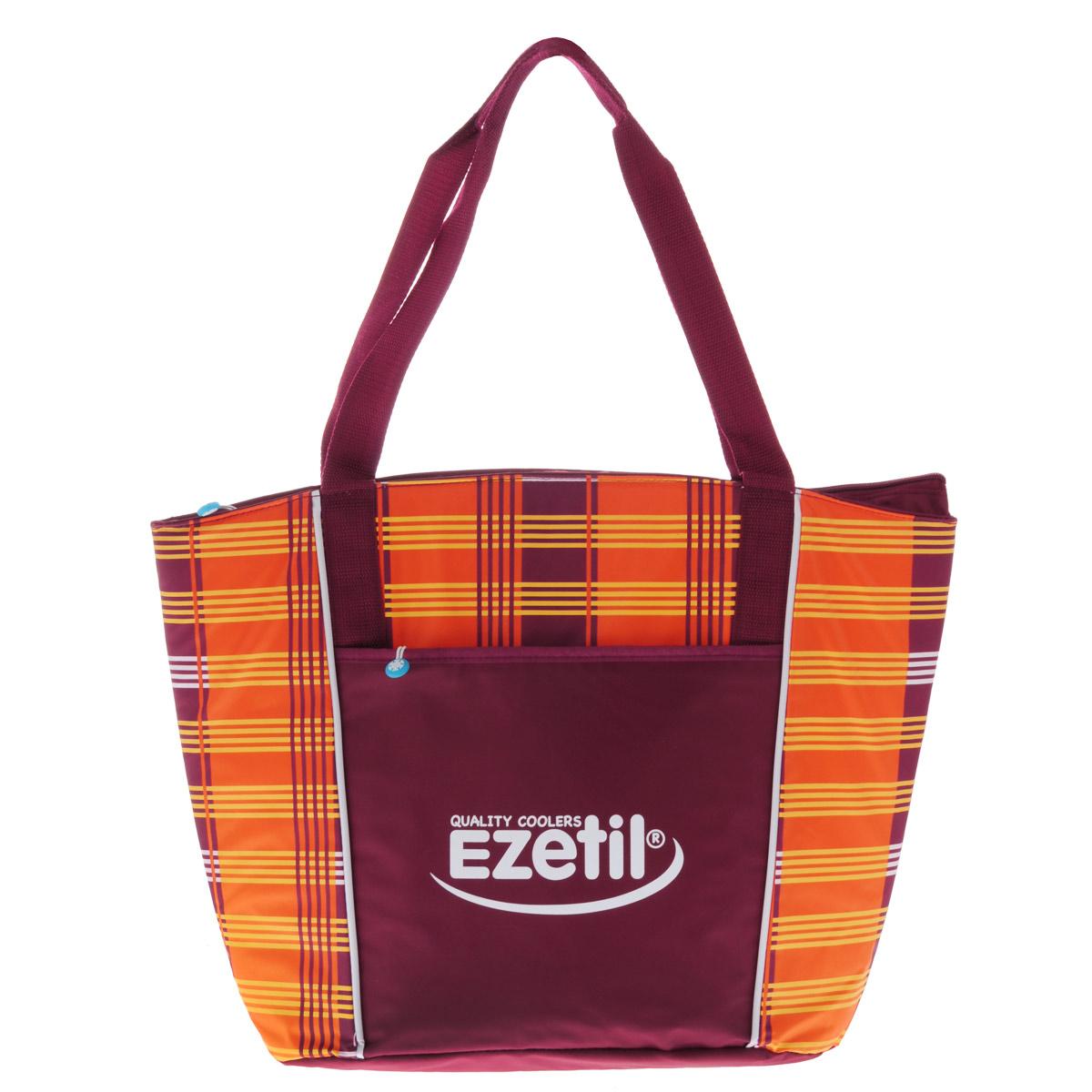 Сумка-холодильник Ezetil KC Lifestyle, цвет: оранжевый, бордовый, 25 л сумка холодильник ezetil kc holiday цвет голубой 17 л
