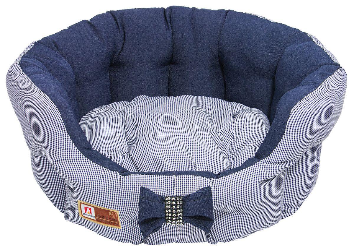 Лежак для собак и кошек Зоогурман Каприз, цвет: синий, диаметр 45 см2168Мягкий и уютный лежак для кошек и собак Зоогурман Каприз обязательно понравится вашему питомцу. Лежак выполнен из нежного, приятного материала. Внутри - мягкий наполнитель, который не теряет своей формы долгое время. Внутри лежака теплый, съемный матрасик. Высокие борта лежака обеспечат вашему любимцу уют и комфорт. За изделием легко ухаживать, можно стирать вручную или в стиральной машине при температуре 40°С. Материал: микроволоконная шерстяная ткань. Наполнитель: гипоаллергенное синтетическое волокно. Наполнитель матрасика: шерсть. Диаметр: 45 см. Внутренний диаметр: 33 см. Высота бортиков: 18 см.