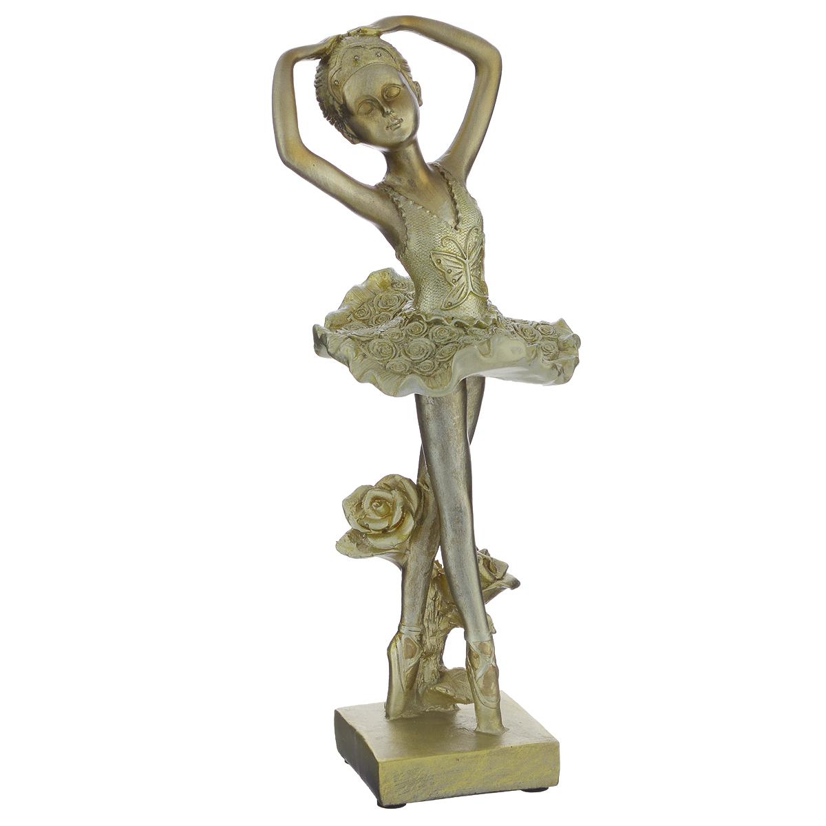 Фигурка декоративная Molento Маленькая балерина, высота 26 см549-089Декоративная фигурка Molento Маленькая балерина, изготовленная из полистоуна, выполнена в виде девочки-балерины. Такая фигурка станет отличным дополнением к интерьеру. Вы можете поставить фигурку в любом месте, где она будет удачно смотреться, и радовать глаз. Кроме того, фигурка Маленькая балерина станет чудесным сувениром для ваших друзей и близких. Размер фигурки: 10 см х 9 см х 26 см.