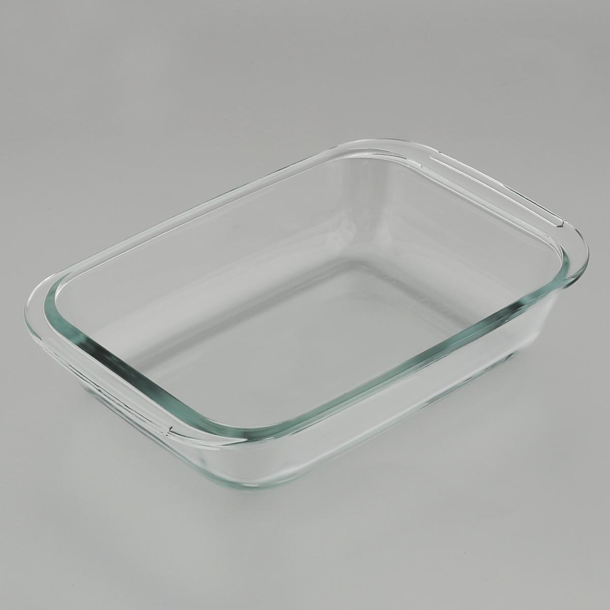 Форма для запекания Mijotex, прямоугольная, 23 х 15 смPL7Прямоугольная форма для запекания Mijotex изготовлена из жаропрочного стекла, которое выдерживает температуру до +450°С. Форма предназначена для приготовления горячих блюд. Оснащена двумя ручками. Материал изделия гигиеничен, прост в уходе и обладает высокой степенью прочности. Форма идеально подходит для использования в духовках, микроволновых печах, холодильниках и морозильных камерах. Также ее можно использовать на газовых плитах (на слабом огне) и на электроплитах. Можно мыть в посудомоечной машине. Внутренний размер формы: 19 см х 15 см. Внешний размер формы (с учетом ручек): 23 см х 15 см. Высота стенки формы: 5 см.