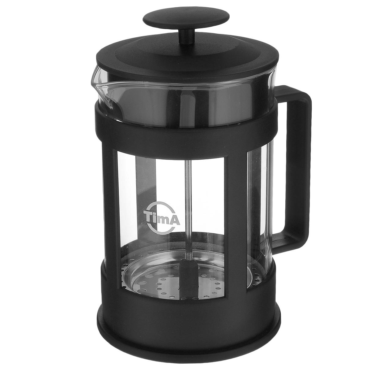 Френч-пресс TimA Марципан, 800 млFM-800Френч-пресс TimA Марципан, изготовленный из жаропрочного стекла и высококачественного пластика, это совершенный чайник для ежедневного использования. Изделие с плотной крышкой и удобной ручкой имеет специальный поршень с фильтром из нержавеющей стали для отделения чайных листьев от воды. После заваривания чая фильтр не надо вынимать. Заваривание чая - это приятное и легкое занятие. Френч-пресс TimA Марципан займет достойное место на вашей кухне. Нельзя мыть в посудомоечной машине. Объем: 800 мл. Диаметр (по верхнему краю): 9,5 см. Высота (без учета крышки): 16 см.
