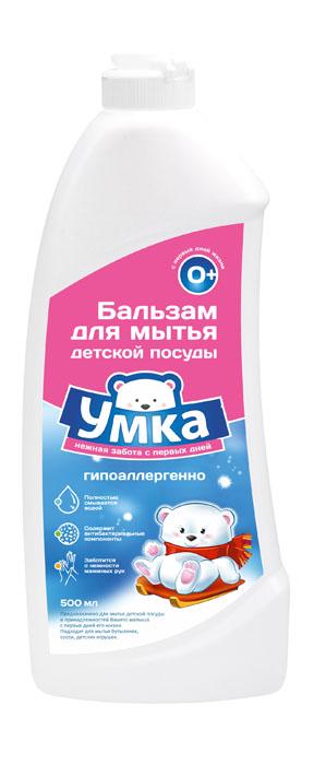 Средство для мытья детской посуды Умка, 500 мл790009Средство для мытья детской посуды Умка предназначено для мытья детской посуды и принадлежностей вашего малыша с первых дней жизни. Подходит для мытья бутылочек, сосок, детских игрушек. Эффективно справляет с загрязнениями даже в холодной воде. Полностью смывается водой, не оставляя следов и запахов на посуде. Содержит антибактериальные компоненты. Ухаживает за кожей рук, не вызывает аллергии. Обладает высокой моющей способностью при пониженном пенообразовании. Состав: 30% вода очищенная. Товар сертифицирован. Уважаемые клиенты!Обращаем ваше внимание на возможные изменения в дизайне упаковки. Качественные характеристики товара остаются неизменными. Поставка осуществляется в зависимости от наличия на складе.