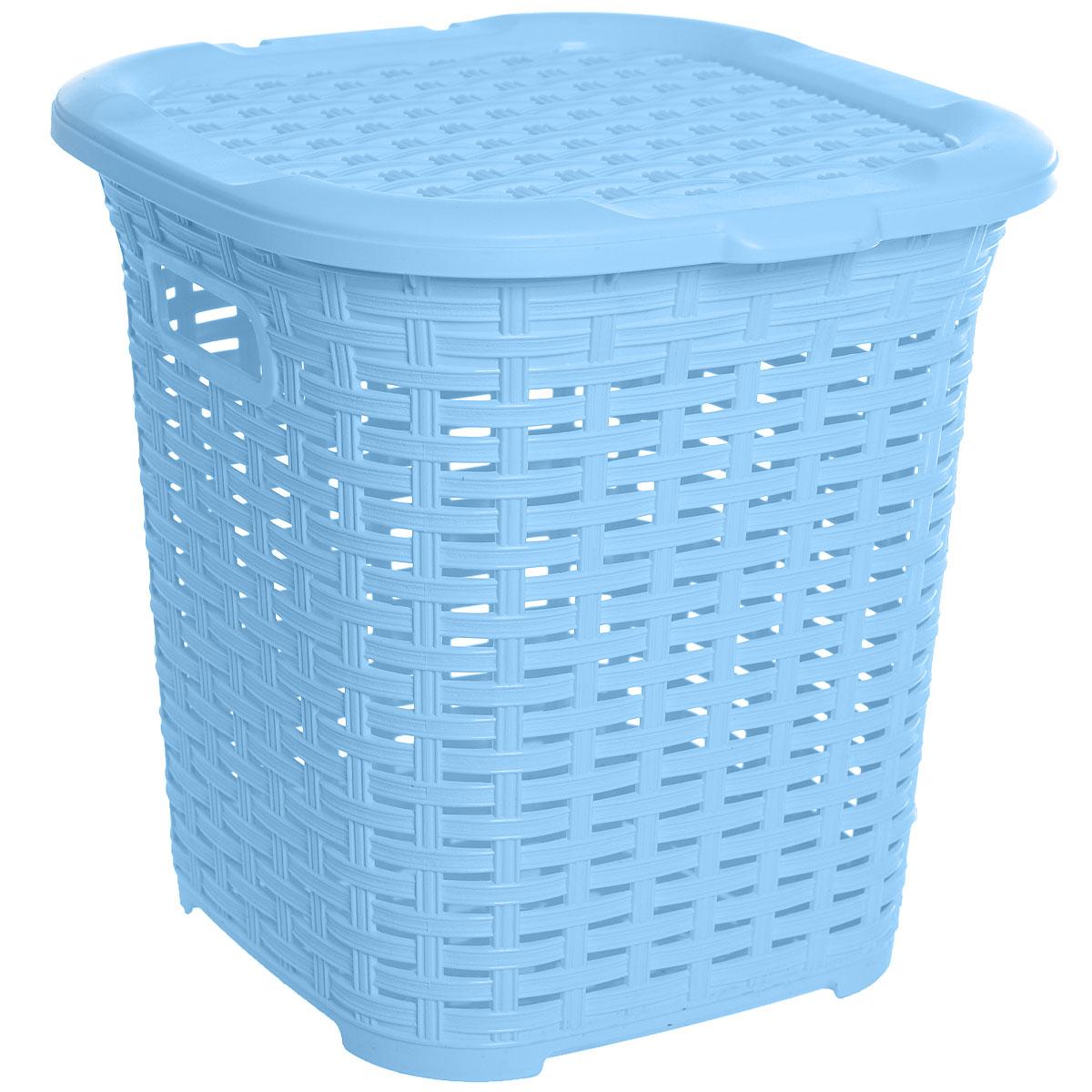 Корзина многофункциональная Dunya Plastik Раттан, цвет: голубой, 15 л5107Многофункциональная корзина Dunya Plastik Раттан изготовлена из прочного пластика. Она отлично подойдет для хранения белья перед стиркой и различных бытовых вещей. В ней также удобно хранить овощи: картошку, лук и т.д. Корзина плетеная, что создает идеальные условия для проветривания. Дно сплошное. Изделие оснащено двумя ручками и крышкой. Такая корзина прекрасно впишется в интерьер ванной комнаты или кухни.