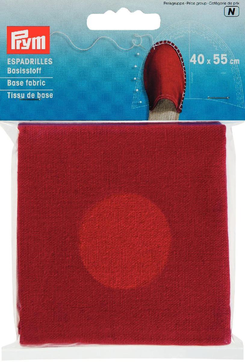 Материал для верха эспадрилий Prym, цвет: красный, 40 см х 55 см932403Материал Prym изготовлен из 100% хлопка. Ткань предназначается для изготовления верха эспадрилий. Эспадрильи - это матерчатые тапочки на веревочной подошве, которые носятся на босу ногу. Их носят и мужчины, и женщины. Создайте своими руками такую обувь, которой ни у кого другого не будет! Размер: 40 см х 50 см. Материал: 100% хлопок.