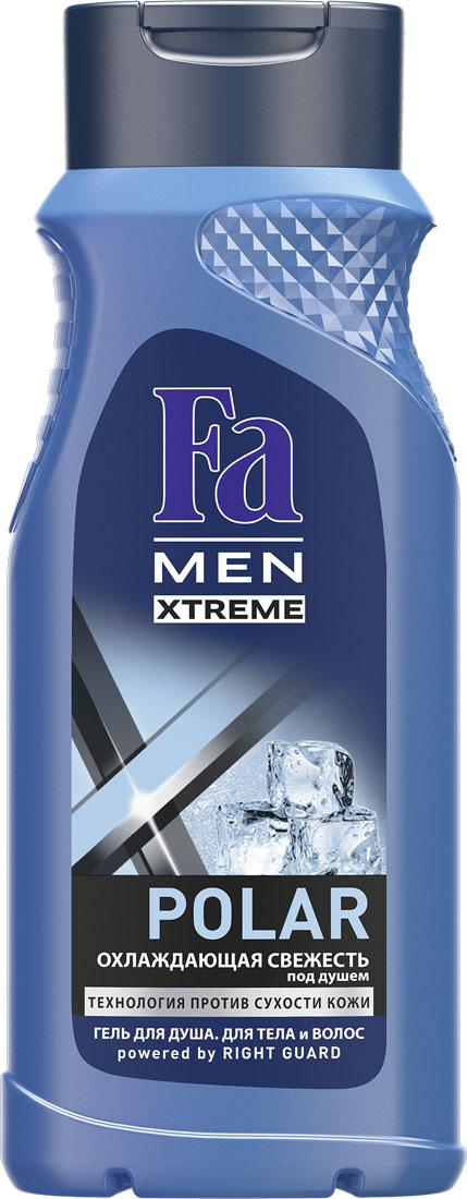 FA MEN Xtreme Гель для душа Polar, 250 мл120527084Испытай ощущение экстремальной прохлады под душем от Fa MEN Polar с охлаждающим эффектом. Инновационная технология Против Сухости Кожи придает свежесть и увлажняет кожу, предотвращая ощущение сухости. Особая формула с Ментолом обеспечивает ощущение прохлады. Подходит для тела и волос. Хорошая переносимость кожей подтверждена дерматологами. Также откройте для себя антиперспиранты Fa MEN Xtreme для непревзойденной защиты 72ч.